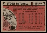 1980 Topps #460  Lydell Mitchell  Back Thumbnail