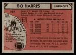 1980 Topps #524  Bo Harris  Back Thumbnail