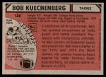 1980 Topps #136  Bob Kuechenberg  Back Thumbnail