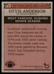 1980 Topps #1   -  Ottis Anderson Record Breaker Back Thumbnail
