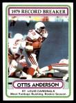 1980 Topps #1   -  Ottis Anderson Record Breaker Front Thumbnail