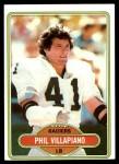1980 Topps #23  Phil Villapiano  Front Thumbnail
