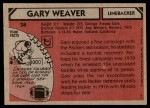 1980 Topps #38  Gary Weaver  Back Thumbnail