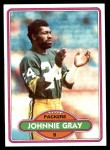 1980 Topps #163  Johnnie Gray  Front Thumbnail