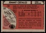 1980 Topps #158  Jimmy Cefalo  Back Thumbnail