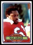 1980 Topps #139  Sam Adams  Front Thumbnail