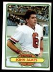 1980 Topps #126  John James  Front Thumbnail