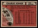 1980 Topps #28  Charlie Joiner  Back Thumbnail