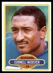 1980 Topps #118  Cornell Webster  Front Thumbnail