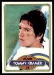 1980 Topps #138  Tommy Kramer  Front Thumbnail