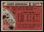 1980 Topps #372  Andy Johnson  Back Thumbnail