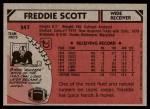 1980 Topps #347  Freddie Scott  Back Thumbnail