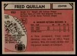 1980 Topps #223  Fred Quillan  Back Thumbnail