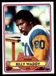 1980 Topps #342  Billy Waddy  Front Thumbnail