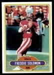 1980 Topps #337  Freddie Solomon  Front Thumbnail