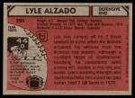 1980 Topps #220  Lyle Alzado  Back Thumbnail
