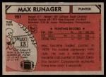 1980 Topps #227  Max Runager  Back Thumbnail