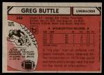 1980 Topps #340   -  Greg Buttle All-Pro Back Thumbnail