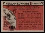 1980 Topps #377  Herman Edwards  Back Thumbnail