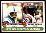 1980 Topps #332   Receiving Leaders Front Thumbnail