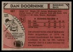 1980 Topps #257  Dan Doornink  Back Thumbnail