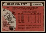 1980 Topps #395  Brad Van Pelt  Back Thumbnail