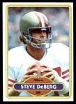 1980 Topps #245  Steve DeBerg  Front Thumbnail
