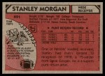 1980 Topps #491  Stanley Morgan  Back Thumbnail
