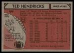 1980 Topps #489  Ted Hendricks  Back Thumbnail