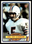 1980 Topps #421  Uwe Von Schamann  Front Thumbnail