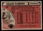 1980 Topps #430   -  Lemar Parrish All-Pro Back Thumbnail