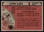 1980 Topps #517  Lynn Cain  Back Thumbnail