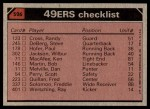 1980 Topps #526   49ers Leaders Checklist Back Thumbnail