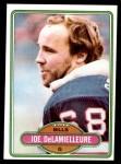 1980 Topps #477  Joe DeLamielleure  Front Thumbnail