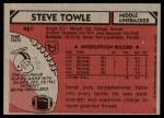 1980 Topps #461  Steve Towle  Back Thumbnail
