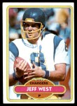 1980 Topps #439  Jeff West  Front Thumbnail