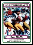 1980 Topps #3   -  Dan Fouts Record Breaker Front Thumbnail