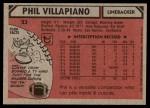 1980 Topps #23  Phil Villapiano  Back Thumbnail