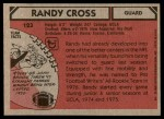 1980 Topps #123  Randy Cross  Back Thumbnail