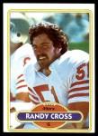 1980 Topps #123  Randy Cross  Front Thumbnail