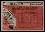 1980 Topps #171  Brian Sipe  Back Thumbnail