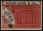 1980 Topps #198  Richard Caster  Back Thumbnail