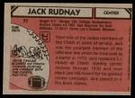 1980 Topps #77  Jack Rudnay  Back Thumbnail