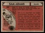 1980 Topps #139  Sam Adams  Back Thumbnail
