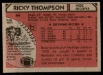1980 Topps #64  Ricky Thompson  Back Thumbnail