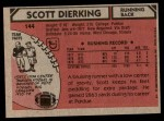 1980 Topps #144  Scott Dierking  Back Thumbnail