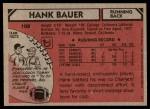 1980 Topps #108  Hank Bauer  Back Thumbnail