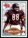 1980 Topps #247  Greg Latta  Front Thumbnail
