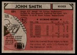 1980 Topps #291  John Smith  Back Thumbnail