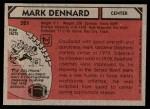 1980 Topps #321  Mark Dennard  Back Thumbnail